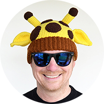 giraffe hat!