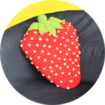 strawberry-pillow