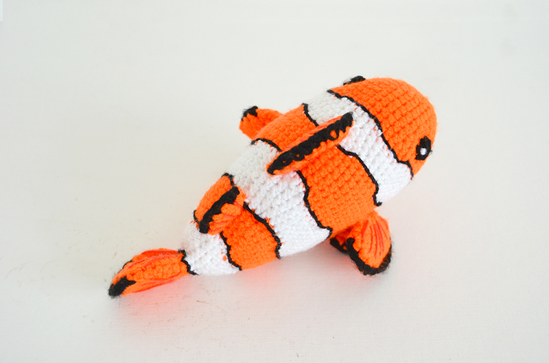 Crochet Finding Nemo Inspired Clown FIsh Stuffed Animal. $35.00 ... | 530x800
